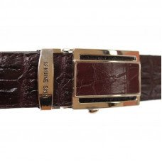 Ремінь чоловічий зі шкіри крокодила коричневий 105 ALB-RL 2R Brown