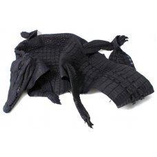 Шкура крокодила з головою і лапами чорна Crocodile skin