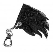 Брелок зі шкіри крокодила чорний KCL 96 Black