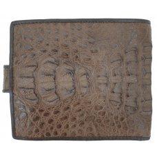 Кошелек мужской из кожи крокодила коричневый ALM 03/20 SK Brown