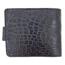 Портмоне мужское из кожи крокодила черное ALM 03/3 B Black