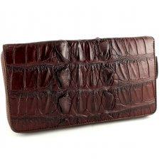 Гаманець зі шкіри крокодила коричневий ZAM 11 Ex BT Brown