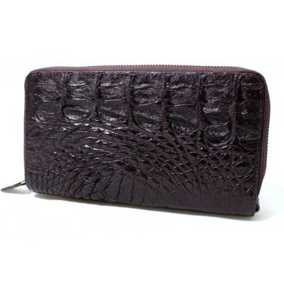 Гаманець зі шкіри крокодила коричневий ZAM 15 BS Brown , фото
