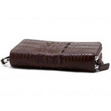 Кошелек из кожи крокодила коричневый ZAM 15 BT Brown