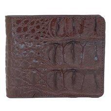 Портмоне мужское из кожи крокодила коричневое ALM 04 BS Brown
