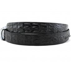 Ремень мужской из кожи крокодила черный 105 ALB-2R Black