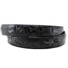 Ремень мужской из кожи крокодила черный 105 ALB-B Black