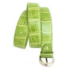 Ремень женский из кожи крокодила 102 ALB Green