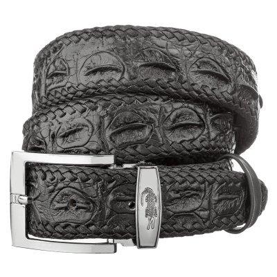 Ремінь чоловічий зі шкіри крокодила чорний 105 ALB-CL S Black , фото