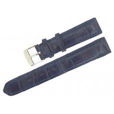 Ремешок для часов из кожи крокодила ALWS 01 Dark Blue