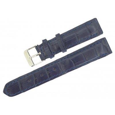 Ремешок для часов из кожи крокодила ALWS 01 Dark Blue , фото