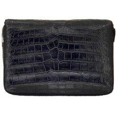 Клатч из кожи крокодила черный DCM 027 B Black