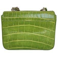 Клатч жіночий зі шкіри крокодила VG Green