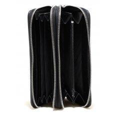 Кошелек из кожи ската черный ST 15 EX Black