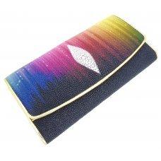 Гаманець жіночий зі шкіри ската ST 52 ART Rainbow