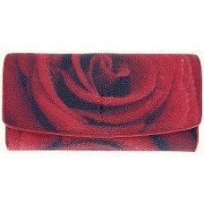 Гаманець жіночий зі шкіри ската ST 52 ART R Rose