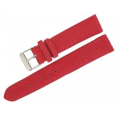 Ремінець для годинника зі шкіри ската червоний STWS 01 Red , фото
