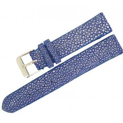Ремешок для часов из кожи ската STWS 04 SA Blue , фото