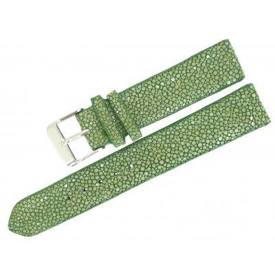 Ремешок для часов из кожи ската STWS 04 SA Green , фото