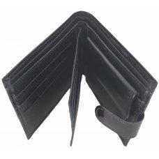 Портмоне мужское из кожи морской змеи черное SN 96 Black