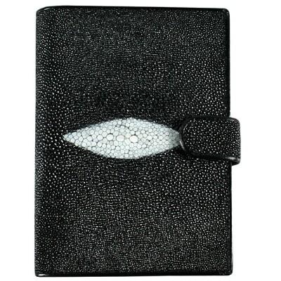 Кошелек мужской из кожи ската черный STP004 Black , фото
