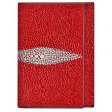 Кошелек женский из кожи ската красный USRT Fire Red