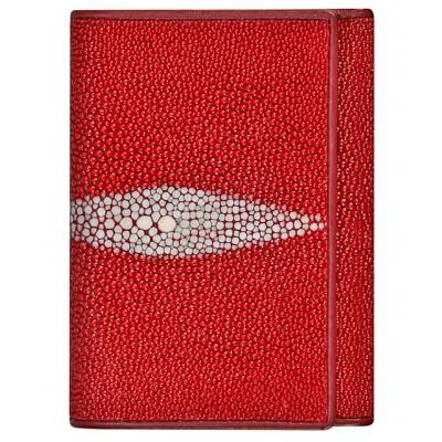 Кошелек женский из кожи ската красный USRT Fire Red , фото