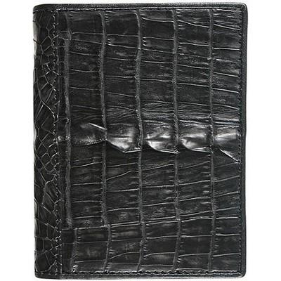 Визитница из кожи крокодила черная CM 01 Black