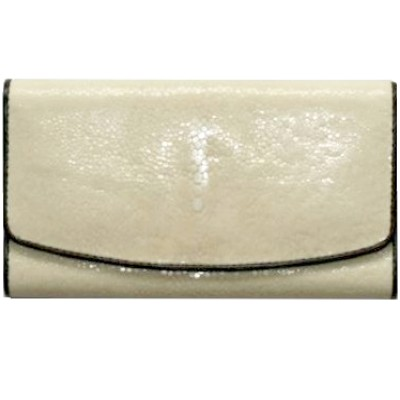 Гаманець жіночий зі шкіри ската білий ST 52 SA White