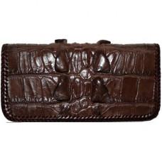 Купюрник из кожи крокодила коричневый CL 23 Brown