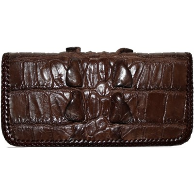 Купюрник зі шкіри крокодила коричневий CL 23 Brown