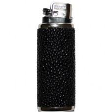 Футляр для зажигалки из кожи ската черный Lighter ST 01 Black