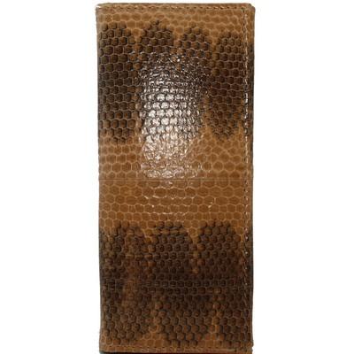 Ключница из кожи морской змеи коричневая SN 039 BE Tan , фото