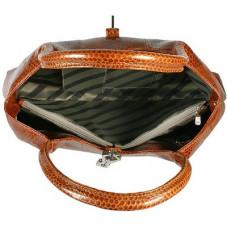 Сумка жіноча зі шкіри морської змії коричнева BSN68 Tan