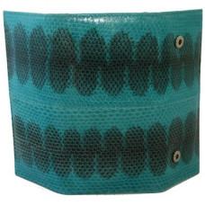 Ключница из кожи морской змеи зеленая SN 039 BE Turquoise