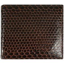 Кошелек мужской из кожи морской змеи коричневый USSN14 Brown