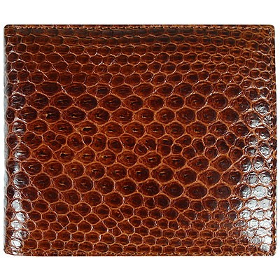 Портмоне мужское из кожи морской змеи коричневое USSN14 Tan , фото