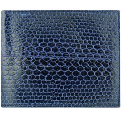 Гаманець чоловічий зі шкіри морської змії синій USSN14 Midnight Blue , фото