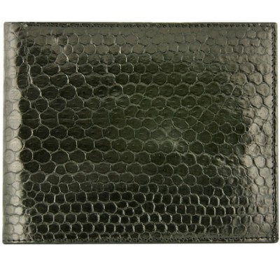 Портмоне чоловіче зі шкіри морської змії чорне USSN03 Black , фото