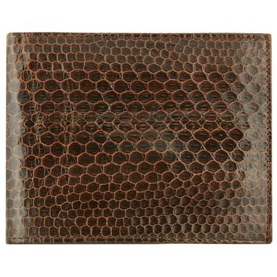 Портмоне мужское из кожи морской змеи коричневое USSN03 Brown , фото