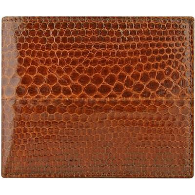 Портмоне мужское из кожи морской змеи коричневое USSN03 Tan , фото