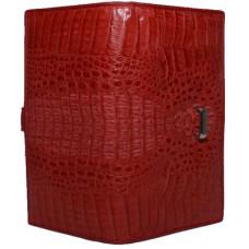 Кошелек женский из кожи крокодила красный  PMD 195 H Fire Red