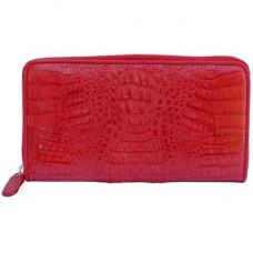 Кошелек женский из кожи крокодила красный  PMD 196 Fire Red