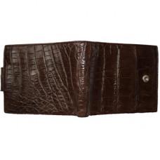 Кошелек мужской из кожи крокодила коричневый USAM 03-2 Brown