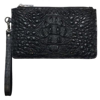 Клатч зі шкіри крокодила чорний CM 020 H Black , фото