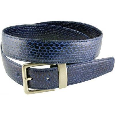 Ремінь зі шкіри морської змії синій 105SN Midnight Blue