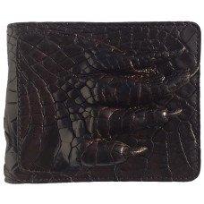 Портмоне мужское из кожи крокодила коричневое ALM 03/2 PL Brown