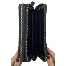 Кошелек из кожи крокодила черный ZAM 15 BH Black