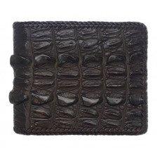 Кошелек мужской из кожи крокодила коричневый ALM 03 BTS Brown