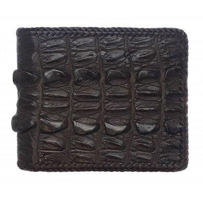 Гаманець чоловічий зі шкіри крокодила коричневий ALM 03 BTS Brown , фото